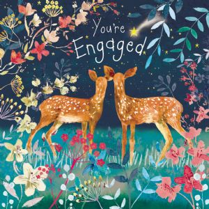 FIZ77  Engagement Card Deer